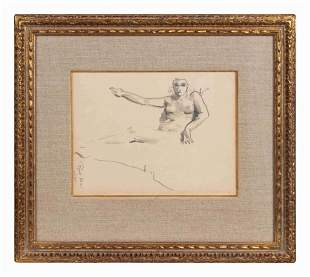 After Robert Henri (American, 1865-1929) Reclining Nude