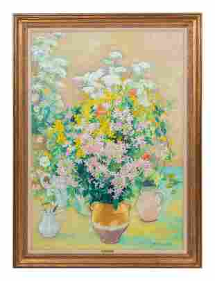 Andre Vignoles (French, 1920-2017) Bouquets
