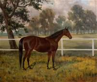 James Clark (British, 1858-1943) Horse Standing