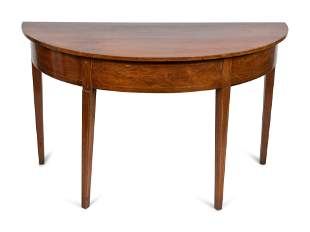 A George III Mahogany Console Table Height 28 x width