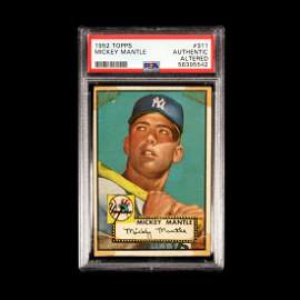 A 1952 Topps Mickey Mantle Rookie Baseball Card No.