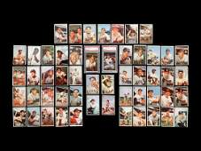 A Group of 53 1953 Bowman Color Baseball Cards