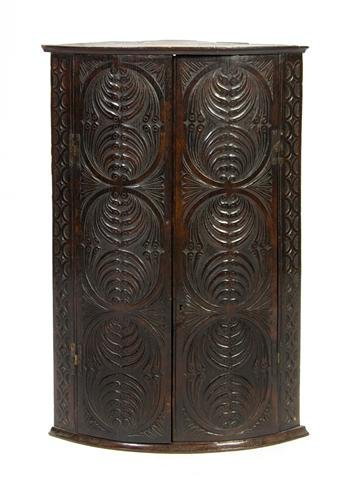 16: An Irish Carved Encoignure, Height 35 1/2 x width 2