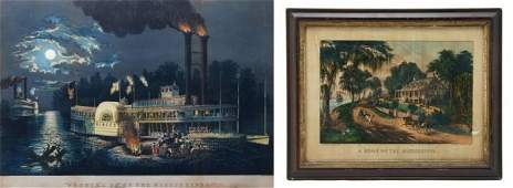 152 Two Color Lithographs Currier and Ives Height of