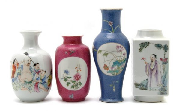 733: A Group of Four Republic Period Vases, Height of t