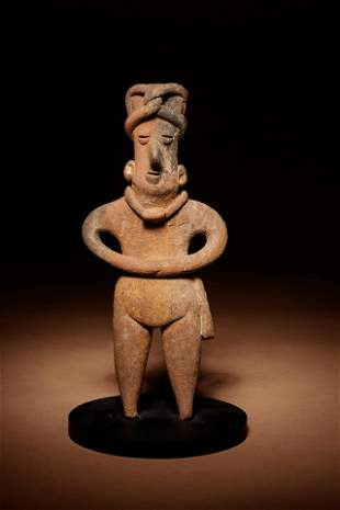A Colima Terracotta Standing Figure Height 7 1/4