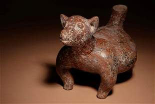 A Colima Terracotta Dog Length 13 3/4 inches.