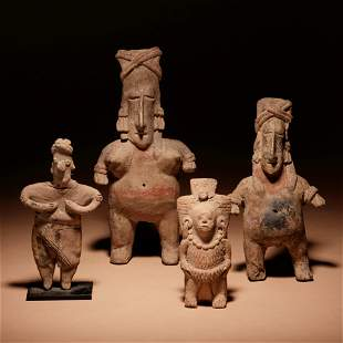 A Group of Four Pre-Columbian Terracotta Standing