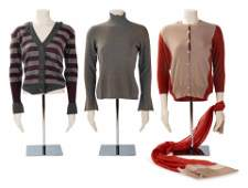 Two Brunello Cucinelli and One Agnona Knit Tops, 2000s