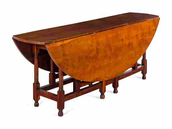 A William and Mary Style Drop-Leaf Gate-Leg Table