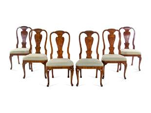A Set of Six George I Style Walnut Dining Chairs