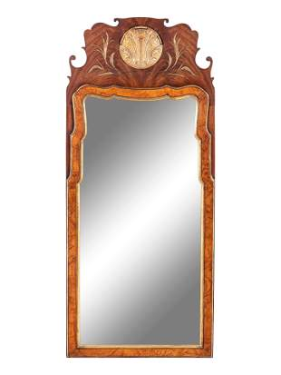 A George II Style Mahogany Mirror
