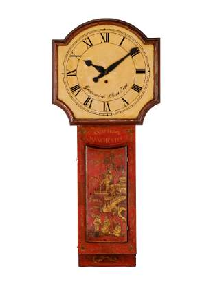 An English Painted Tavern Clock