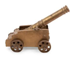 A Brass Model of a Cannon with Carriage