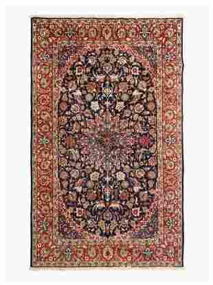 A Kashan Wool Rug