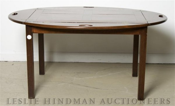 5: A Mahogany Butlers Table, Height 17 3/4 inches.