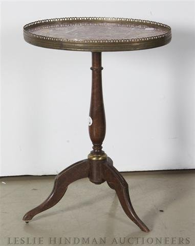 11: A French Marble Top Occasional Table, Height 20 inc