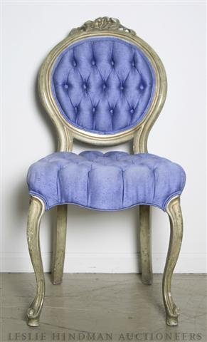 17: A Louis XV Style Side Chair, Height 37 1/4 inches.