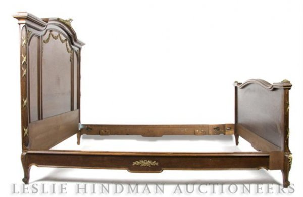 18: A Louis XVI Gilt Metal Mounted Bed, Height of headb