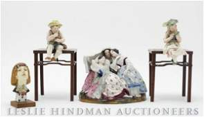 205 A Collection of Continental Porcelain Figural Arti