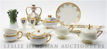 604 A Collection of Continental Porcelain Articles He