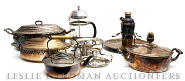 622: A Collection of Silvered and Silverplate Serving A