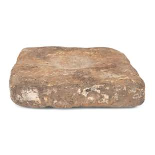 A Hardstone Mortar 2 x 8 1/4 inches