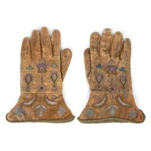 Great Lakes Embroidered Gauntlets length 9 1/4 inches