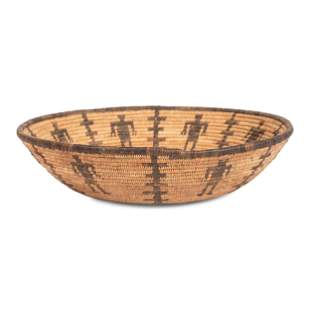 Apache Figural Basket height 2 1/4 inches x diameter 11