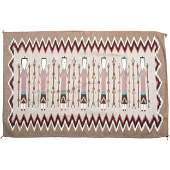 Linda Yazzie (Dine, 20th century) Navajo Yei Weaving /