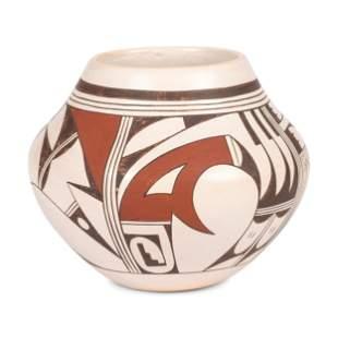 Joy Navasie (Hopi, 1919-2012) Polychrome Pottery Jar