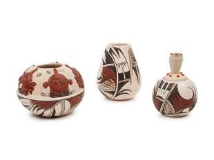 Harrison Jim Jr. (Hopi, 20th century) Pottery Jars,