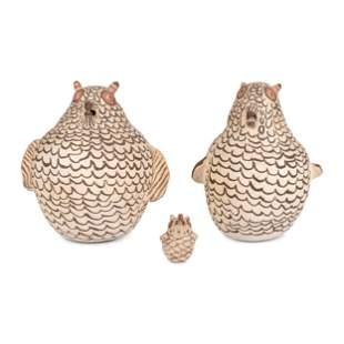 Zuni Pottery Owls