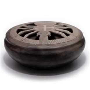Jane Osti (Cherokee, 20th century) Pottery Bowl, with