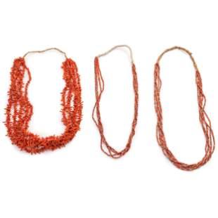 Pueblo Multi-Strand Coral Necklaces