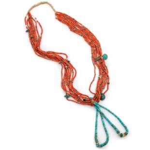 Pueblo Eight-Strand Necklace, with Joclas