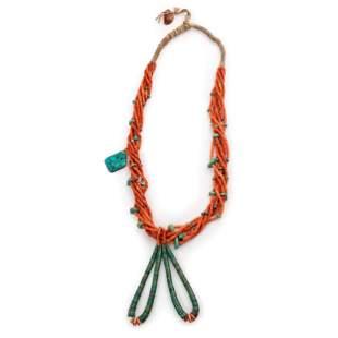 Pueblo Seven-Strand Necklace, with Joclas