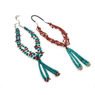 Pueblo Multi-Strand Necklaces, with Joclas