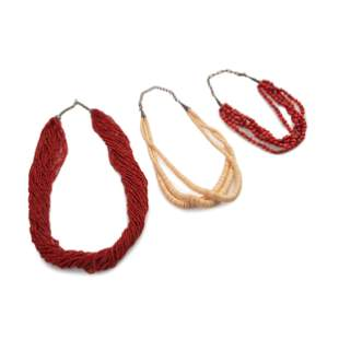 Southwestern-Style Multi-Strand Coral and Shell