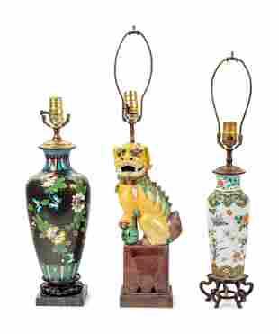 Three Chinese Lamps