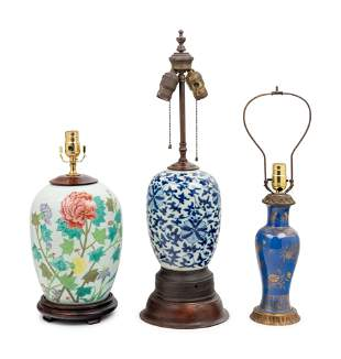 Three Chinese Porcelain Vases
