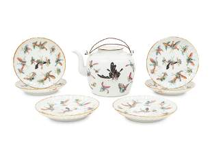 A Set of Seven Chinese Famille Rose Porcelain