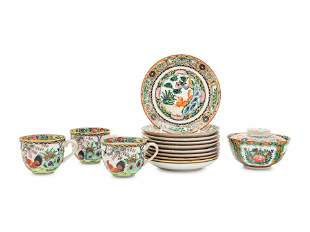A Partial Set of Chinese Export Famille Rose Dinner and