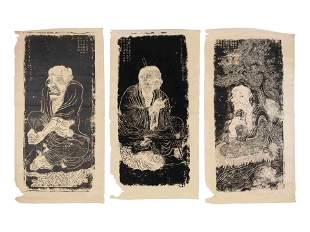 A Collection of Ten Chinese 'Luohan' Rubbings