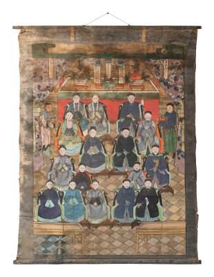 Three Chinese Ancestor Paintings