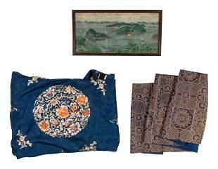Three Chinese Textile Panels