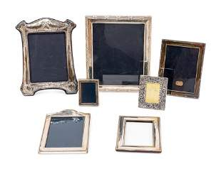 A Group of Seven English Silver Picture Frames
