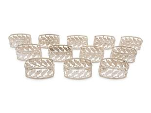 Twelve Buccellati Silver Napkin Rings