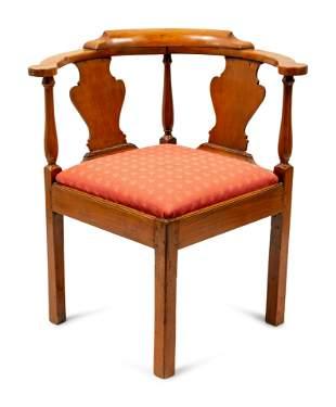A George III Style Corner Chair height 31 x width 18