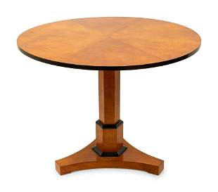 A Biedermeier Style Part Ebonized Center Table height